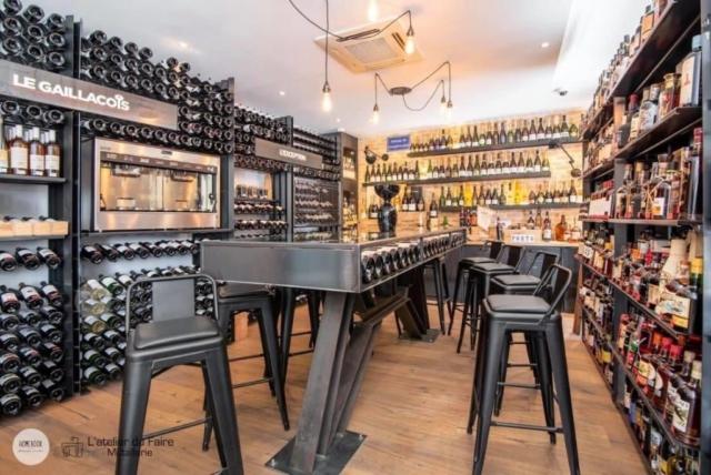 Clef des vins Albi mobilier acier sur mesure